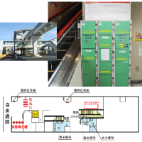 壺川駅 コインロッカー / Tsubogawa Bahnhof Münze Schließfach