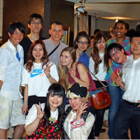 Die internationale Party fand am Freitag in Shinjuku statt