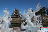 国宝松本城 氷彫フェスティバル(National Treasures Matsumoto Castle Ice Carving Festival)